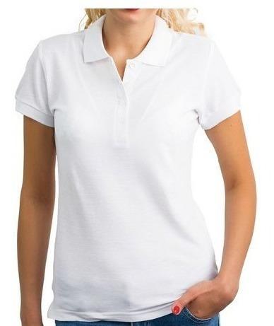 Camisa Pólo Piquet Feminina