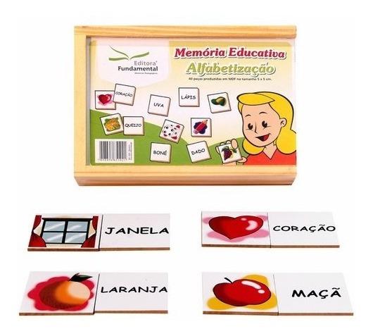 Jogo Da Memória Educativa Mdf Alfabetização