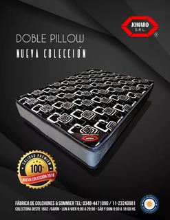 Colchon De 2 Plazas Doble Pillow Espuma 140x190