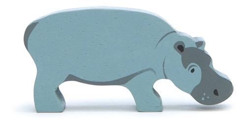 Imagen 1 de 3 de Juguete Animales De La Selva En Madera Hipopótamo Para Niños