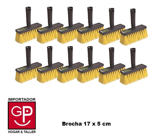 Brocha Piceleta X 12 Piezas 17 X 5 Cm G P