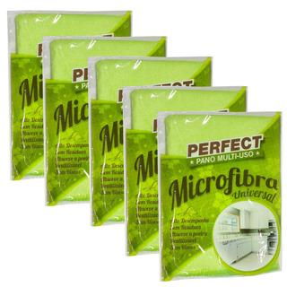 Flanela Toalha Pano Microfibra 40x40 Cm Perfect Kit 5 Unidad