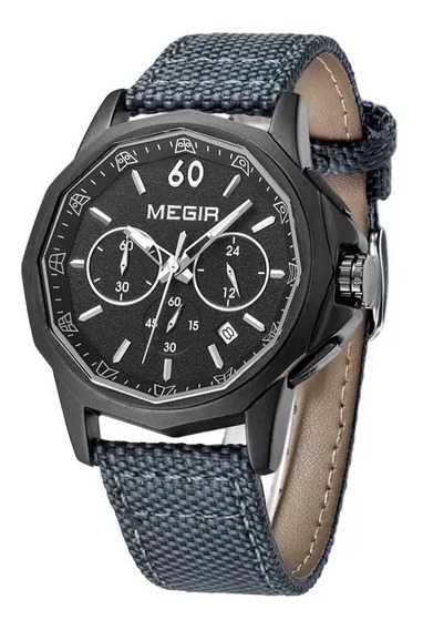 Relógio Masculino Megir 2033 Cronográfo Original