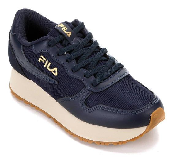 Tênis Feminino Alto Plataforma Fila Euro Jogger Original