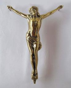 Crucifixo Bronze Jesus Cristo Para Túmulo Jazigo Parede 26cm