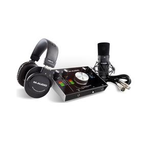 Kit Gravação M-audio Mtrack2x2 Interface Microfone - Ac0227