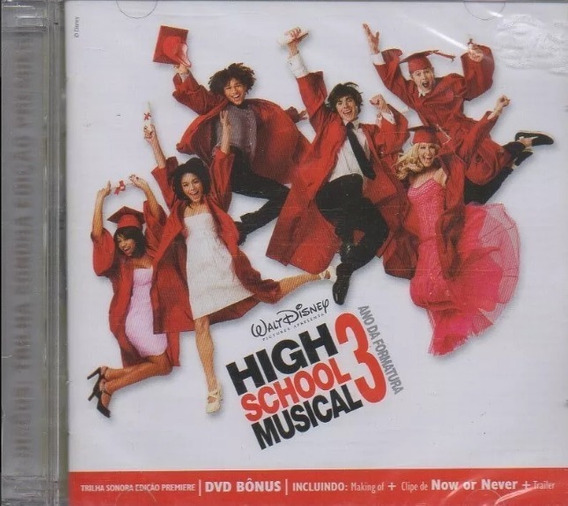 Cd Dvd High School Musical - 3 Ano Da Formatura - Novo