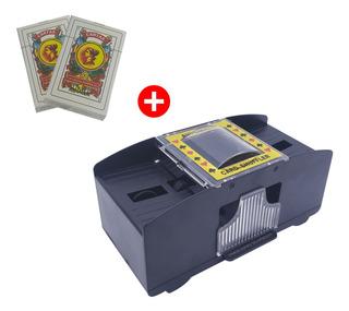 Barajador De Cartas Automatico + 2 Mazos Naipes De Regalo -