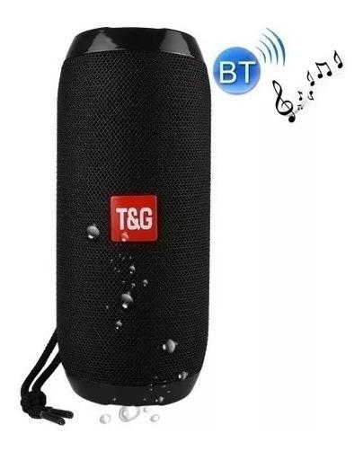 Caixa De Som Portatil Com Bluetooth Tg-117 - Preto