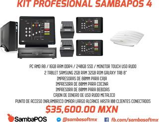Kit Punto De Venta Restaurante 1 Pc Caja 2 Tablets 2 Impreso