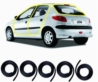 Borrachas 4 Portas E Porta Malas Peugeot 206 / 206 Sw