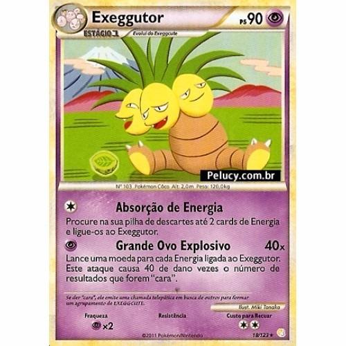 Exeggutor Pokémon Psíquico Raro 18/123 Heartgold Soulsilver