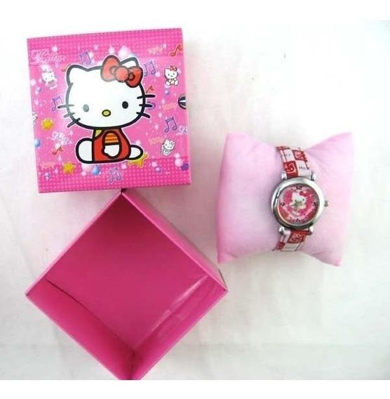 Kit Relógio Infantil Da Hello Kitty Com Caixa De Presente