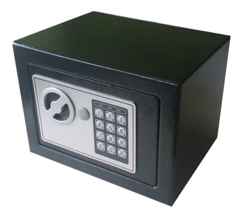 Caja Fuerte Seguridad Digital 23x17x17cm Mini Negra Tio Musa