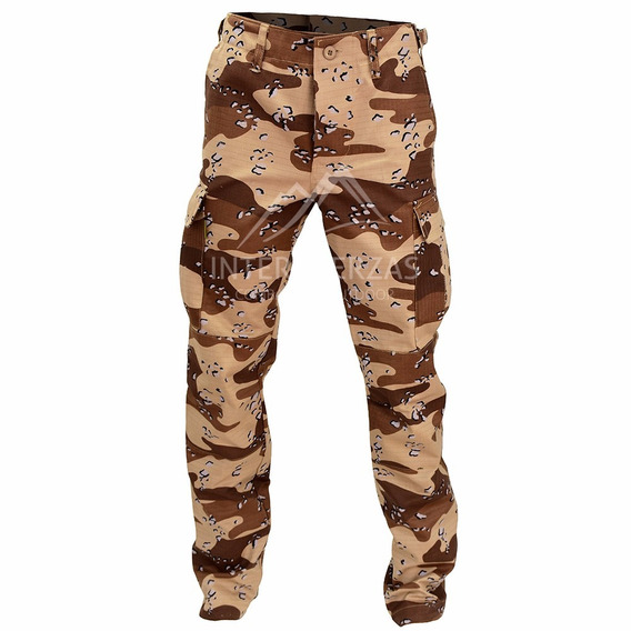 Pantalon Militar Tactico Camuflado Desert Storm Antidesgarro