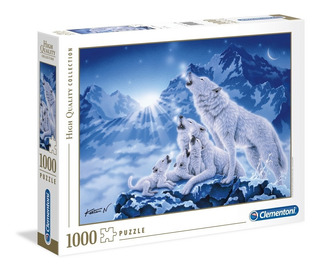 Rompecabeza Puzzle X 1000 Famiglia Di Lupi Clementoni Full
