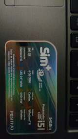Notebook , I5, 6gb Ram , 120gb Ssd E Leitor De Cd/dvd.