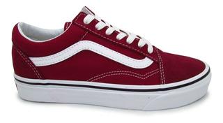 Tenis Vans Old Skool Vn0a38g1vg4 Rumba Red White Unisex