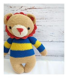 León Apego, Peluche, Muñeco Tejido A Crochet