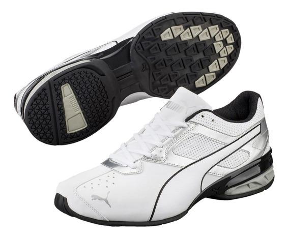 Tenis Puma Tazon 6 Fm White Silver Running Shoes...