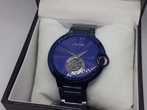 Relógio Cart Ballon Azul C/ Caixa De Brinde