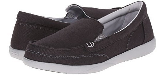 Crocs Walu Canvas Loafer Women Black-graphite Envios Gratis