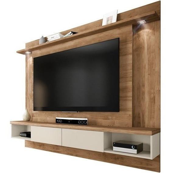 Home Suspenso Para Tv Até 65 Lumino Buriti/off-white Caem