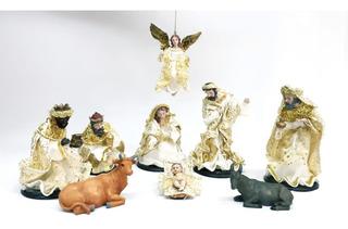 Pesebre Navidad Artesanal 9 Pzas 15cm - Cod 30950