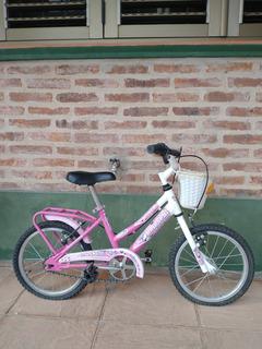 Bicicleta Tomaselli Rodado 14 Para Niña!