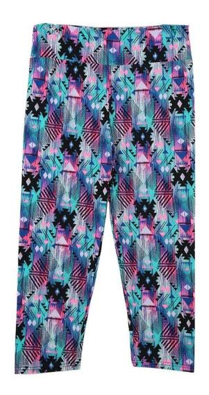 Senhora Cropped Trousers Vintage Print Elastic