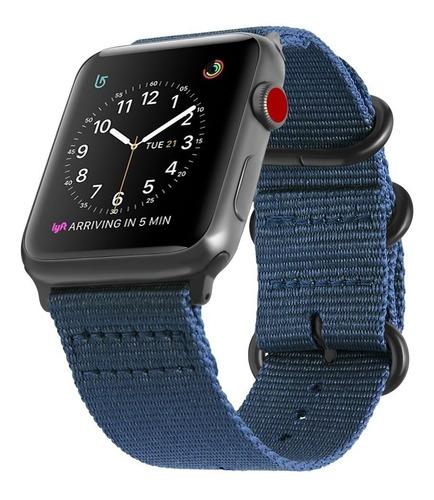 Correa Apple Watch Nylon Series 2 3 4 5 42mm 44mm Colores