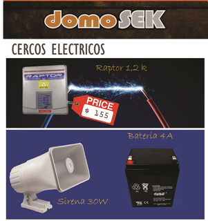 Kit Cerco Electrico Raptor 1,2km Descuento Extra Instalador