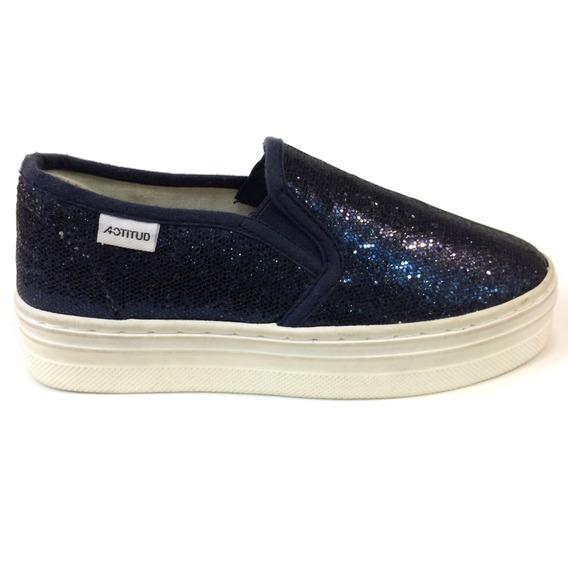 Zapatos Actitud Originales Para Niñas - Ac160698b - Navy