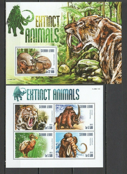 2015 Fauna - Animales Extintos- Mamut - Sierra Leona Mnh