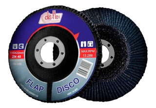 Disco Flap Disflex 4.1/2x 60 Zirconia 09.055 Kit C/10