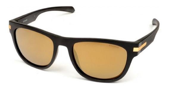 Óculos De Sol Polaroid Preto E Dourado Pld2065/s I46 54/lm