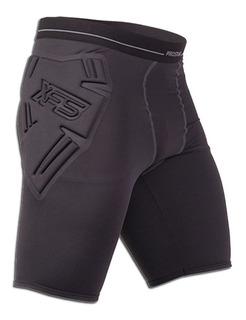 Calza Corta Con Protecciones Ironman Arquero Prostar Fivra