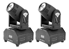 Kit 2x Mini Moving Head Beam Spot Led Cree 12w Rgbw Dmx
