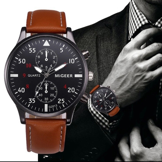 Relógio Marca Migeer + Caixa De Presente