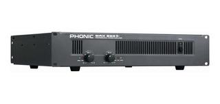 Phonic Max860 Plus Potencia Amplificador 600w Rms