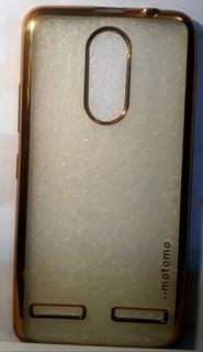 Capa Proteção Lenovo K6 Dourada