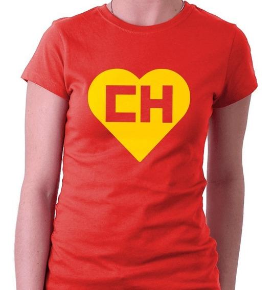 Camiseta Feminina Baby Look Chapolin Colorado Vermelha