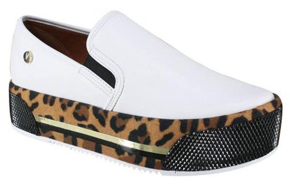 Sapato Vizzano Onça Slip On 1298.406 Flatform Branco