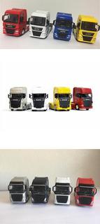 Kit 3 Caminhões 1 Volvo + 1 Man + 1 Scania 1:64