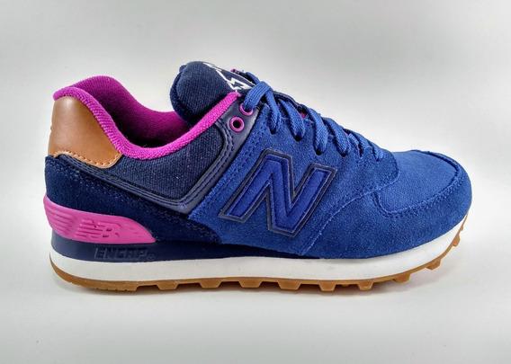 Tênis New Balance Wl574ama Feminino Azul/pink
