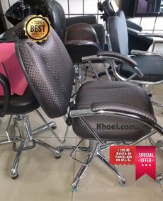 Cadeiras Hidráulica Reclinável Com Acabamento De Ótima.