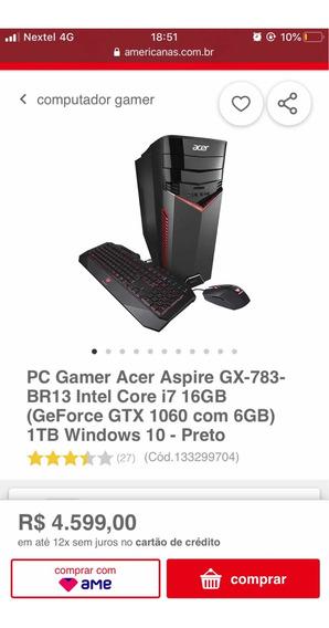 Cpu Pc Gamer Acer Aspire