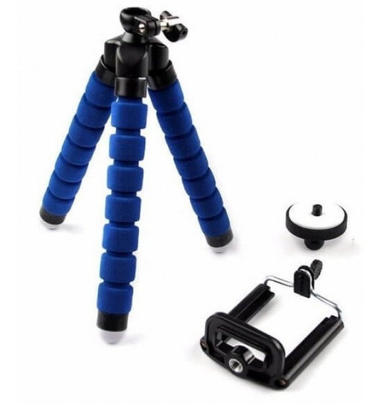 Tripé Celular Flexível Selfie Câmeras/gopro Azul