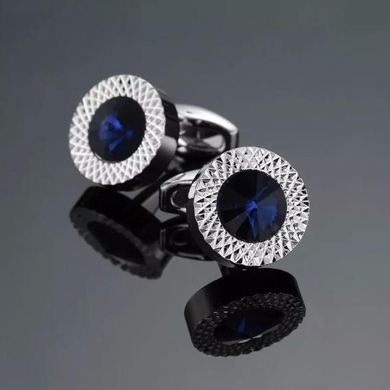 Abotoadura De Luxo Homens Pedra Azul Suits Linda Unissex