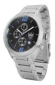 Relógio De Pulso Dumont Sy20432 Prata E Azul Masculino